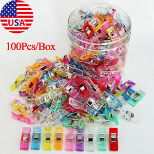 100PCS Clover Wonder Clips Clamp for Craft Quilting Sewing Knitting On Sale