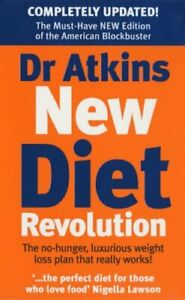 Dr Atkins New Diet Revolution by Atkins, Robert C Paperback Book The Cheap Fast