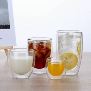 Double Wall Glass Cups Tea Cup Coffee Mug Cocktail Cup Water Cups 80ml - 450ml