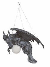 Drachenlampe Lampe Deckenlampe Hängelampe Figur Gothic Dekofigur Drache Deko 18