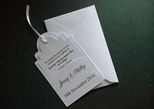 10x Wedding Invitations in Pocket with Envelopes