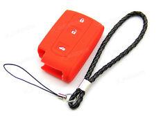 Red Silicone Case Cover For Toyota Avensis Verso Prius Corolla Remote Smart Key