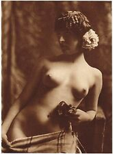 1920's Vintage Female German Nude Model Art Deco H. Maass Photo Gravure Print