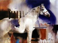 CHENPAT794 hand painted abstract animal white horse oil painting art on canvas