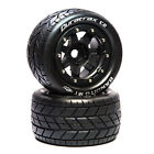 """Duratrax Bandito MT Belt 2.8"""" Mounted Front/Rear Tires .5 Offset 17mm Black 2"""