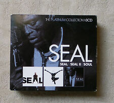 "CD AUDIO/ SEAL ""SEAL / SEAL II / SOUL THE PLATINUM COLLECTION)"" 3 CD-BOX COMPIL"
