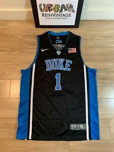 RARE VTG AUTHENTIC DUKE BLUE DEVILS KYRIE IRVING NIKE JERSEY L NCAA CHAMP