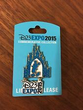 Disney DLR D23 Expo 2015 Logo Mickey Sleeping Beauty Castle Collection Glitter