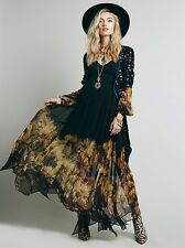 Women Vintage Party Evening BOHO Hippie Bodycon Maxi Long Chiffon Sheer Dresses