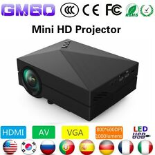 Original GM60 Mini Portable Home Cinema Theater LED Projector HD 1080P HDMI AV