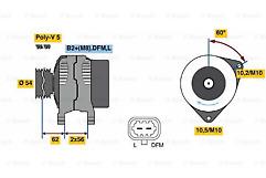 Corsa,Astra,Meriva 1.0 1.2 1.4 Bosch 0986081380 Alternator