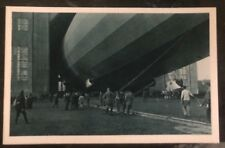 Original RPPC Zeppelin airship into the hall Real Picture Postcard Mint 2