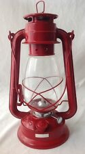 Vintage Red Railroad Barn Lantern Swallow Brand 215 Kerosene Lamp