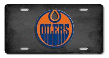 Edmonton Oilers Alberta Canada Hockey Team Aluminum Vanity License Plate Gray