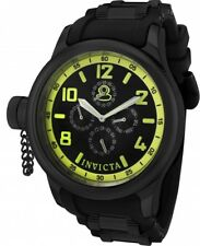 New Mens Invicta 1805 Russian Diver Multi-Function Black Dial Rubber Strap Watch