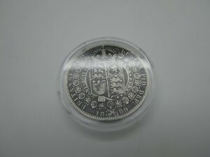HALF CROWN 1889 -  BRITISH SILVER COIN (HC05)