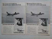 6/1975 PUB AVION LOCKHEED L-1011 TRISTAR AIRLINER PILOT AIRLINES ORIGINAL AD