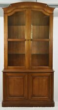 KINDEL Furniture Fruitwood Lighted Bookcase Hutch French Country Style
