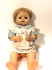 Vintage 1969 Horsman Doll Drink And Wet Blonde Blue Working Eyes 21""