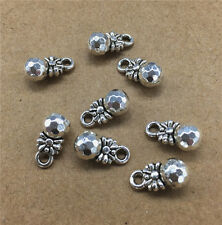 Wholesale 8pcs Tibet Silver Candy Ball Charm Pendant beaded Jewelry Findings New