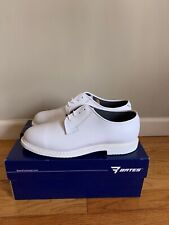 Bates Womans White Leather Oxford Shoes-Sz 10.5