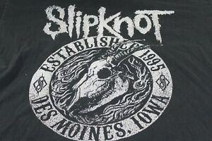 Slipknot camiseta Gris Efecto muerto logotipo en relieve en capítulo oficial hombre nuevo Negro Talla