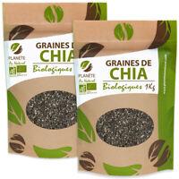 Plante Graines de Chia Bio Noir Régime Maigrir Naturel Nutrition Minceur 2 KG FR