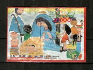 ECUADOR Scott's 1548 ( S/S ) Christmas, Children's Art F/VF Used ( 2000 ) #1