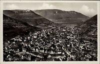 Urach Baden Württemberg s/w Postkarte ~1940 Gesamtansicht Panorama Echtfoto-AK