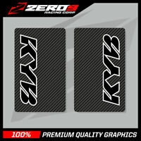 KYB UPPER FORK DECALS MOTOCROSS GRAPHICS MX GRAPHICS ENDURO CARBON BLACK