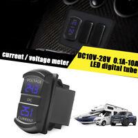 LED Digital Amp Voltage Meter  2-in-1 Current Voltage Tester For Boat Truck ATV