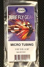 "HMH MICRO FLY TYING TUBE. CLEAR, RIGID, 36"" X 1/16"" OD. TIE TUBE FLIES"