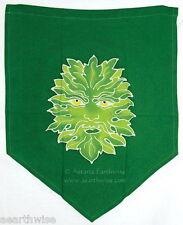 GREEN MAN ALTAR CLOTH - PRAYER FLAG -  Wicca Witch Pagan Goth New Age