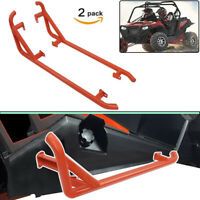 2X Side Nerf Bars Rock Sliders Red for Polaris RZR XP 1000 900 Trail 900S Turbo