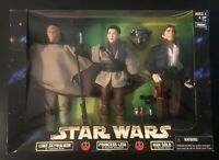 "Star Wars Kenner Action Collection LUKE, LEIA, HAN SOLO 12"" Figures (NIB)"