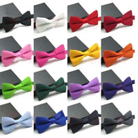 Father's Day gift Tuxedo Classic Solid Color Party Wedding Bowtie Bow Tie