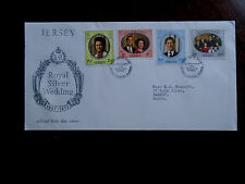 JERSEY 1972 ROYAL SILVER WEDDING  FDC Full Set 4 values to 20p Illustrated Cover