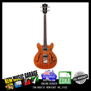 GUILD NEWARK ST COLLECTION STARFIRE II ELECTRIC BASS NATURAL WITH DELUXE CASE