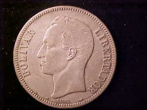 VENEZUELA 5 BOLIVARES 1912