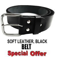New Mens Leather Belts Buckle Belt For Jeans Big Tall King Waist Sizes S - 3XL