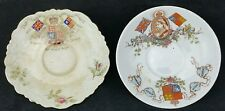 Pair of Victoria 1897 jubilee saucers, one by Aynsley