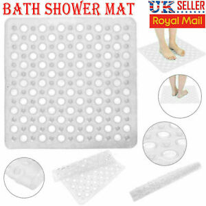 BATH SHOWER MAT PVC NON SLIP BATHROOM RUBBER MATS ANTI SLIP SUCTION 43 X 43 cm