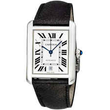 Cartier Tank Solo XL Automatic Silver Dial Men's Watch WSTA0029