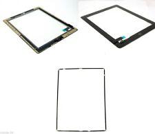 Apple iPad 2 vetro touchscreen A1395 NERO + TELAIO E ADESIVO