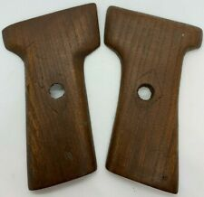 Smooth Wood Replacement Grips for Webley 9mm Automatic Pistol