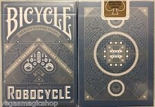 Robocycle Blue Deck Bicycle Playing Cards Poker Size USPCC Custom Limited Ed New