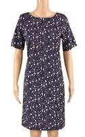 WHITE STUFF LADIES TUNIC DRESS NAVY PATTERNED FULLY LINED SIZE 8