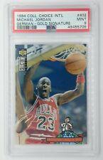 Rare German: 1994 UD CC Michael Jordan Gold Signature #402, PSA 9, Pop 7, 5 ^