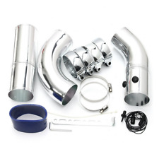 76mm Universal Car Turbo Air Intake Refit Kit + Straight Elbow Pipe Clamp Clip