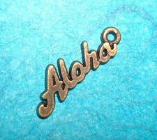 Pendant Aloha Charms Lot of 3 Bronze Charm Hawaii Charm Tropical Charm Luau Tiki
